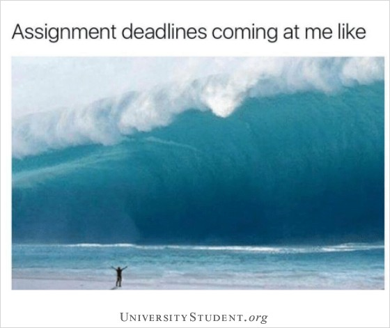 Assignment deadlines coming at me like