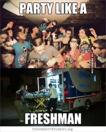 Party like a freshman