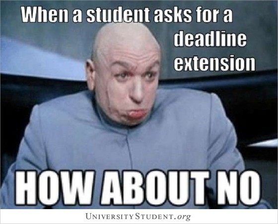 When a student asks for a deadline extension