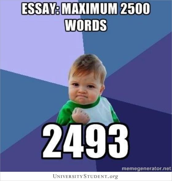Essay maximum 2500 words 2493