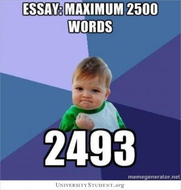 Essay maximum 2500 words 2493