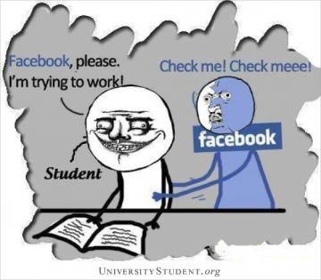 Facebook, please. I'm trying to work. Check me! Check meee!. Revising.