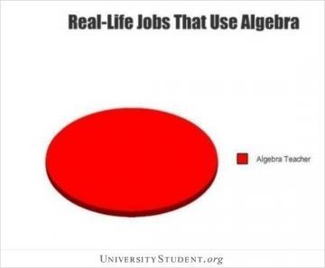 Real life jobs that use Algebra