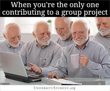 When you're the only one contributing to a group project