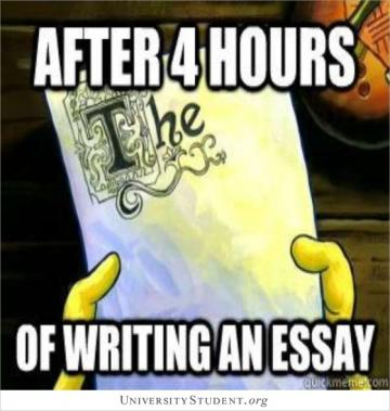 After 4 hours of writing an essay