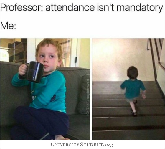 Professor: attendance isn't mandatory