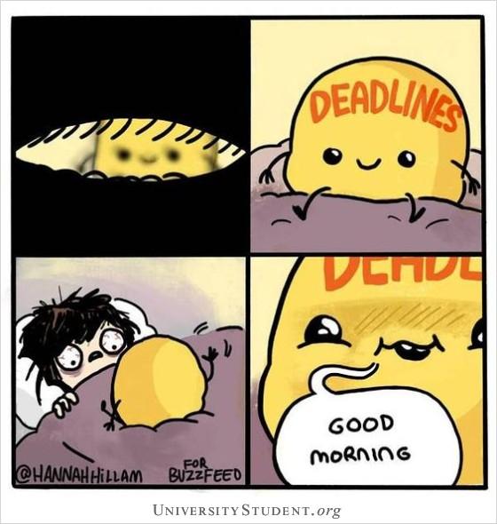 Deadlines. Good morning.