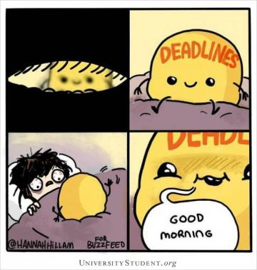 Deadlines. Good morning.
