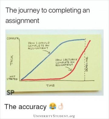 The journey to completing an assignment