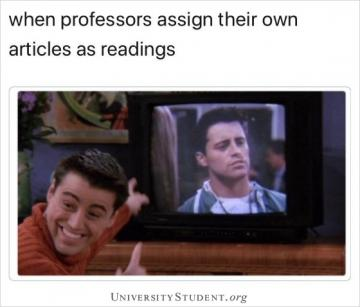 When professors assign their own articles as readings
