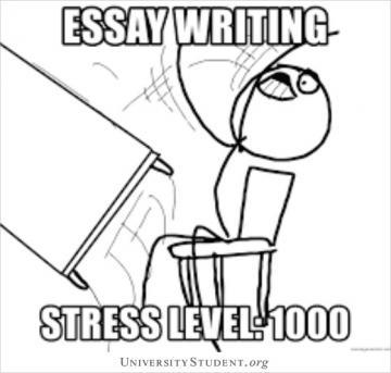 Essay writing stress level 1000
