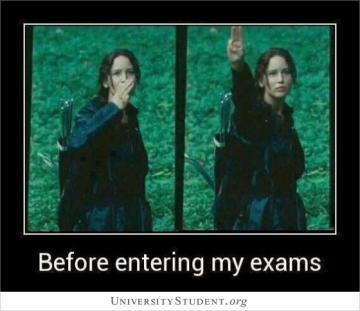 Before entering my exams