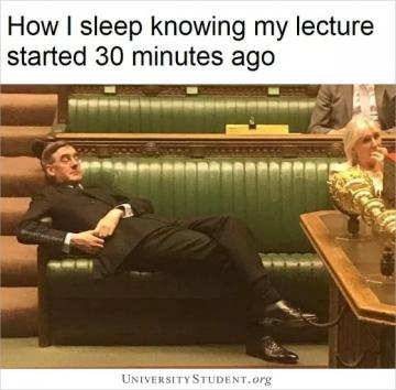 How i sleep knowing my lecture started 30 minutes ago