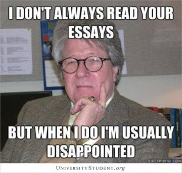 I don't always read your essays but when i do I'm usually disappointed