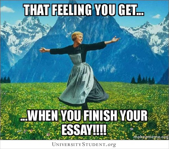 That feeling you get when you finish your essay