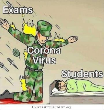 Exams. Coronavirus. Students.