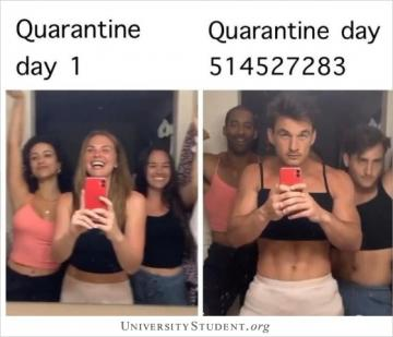 Quarantine day 1 . Quarantine day 514527283.