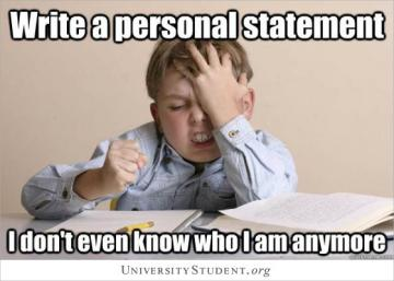 Write a personal statement. I don't even know who i am anymore